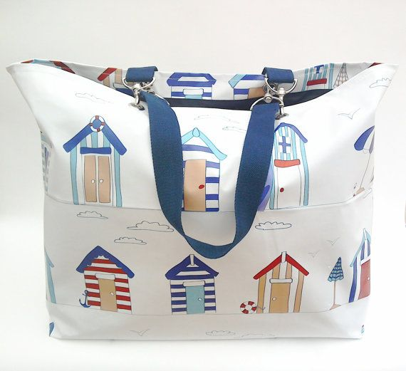 Extra large family size beach bag/Tote in matt by BeachBelleShop