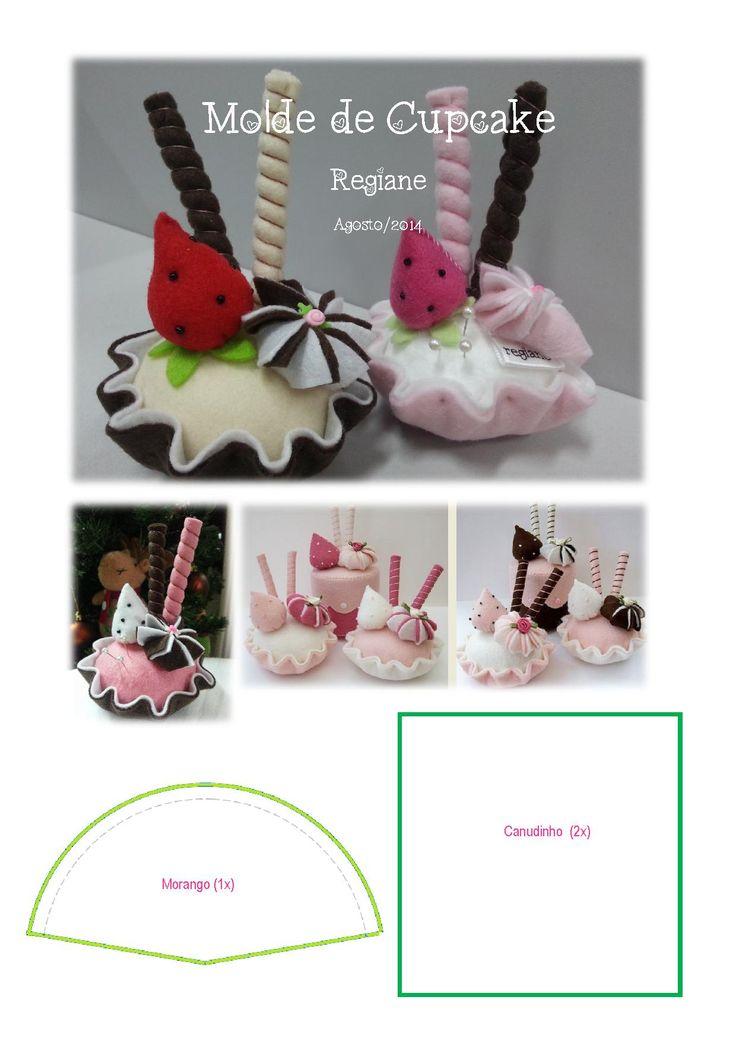 Molde de Cupcake em Feltro