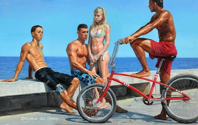 MicheleDeCampoField, Youth Painting, Artists Michele, Urban Art, Michele Del, Life A Beach, Urban Youth, Art Michele, Arty Inspiration