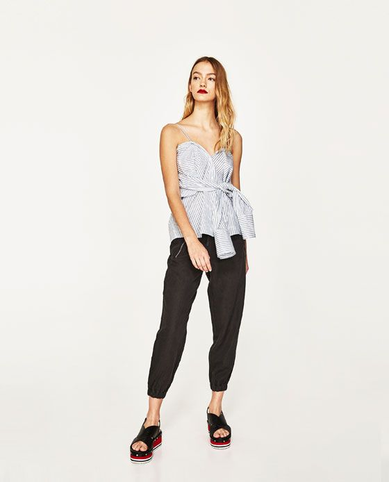 Image 1 of ZIPPED JOGGING TROUSERS from Zara