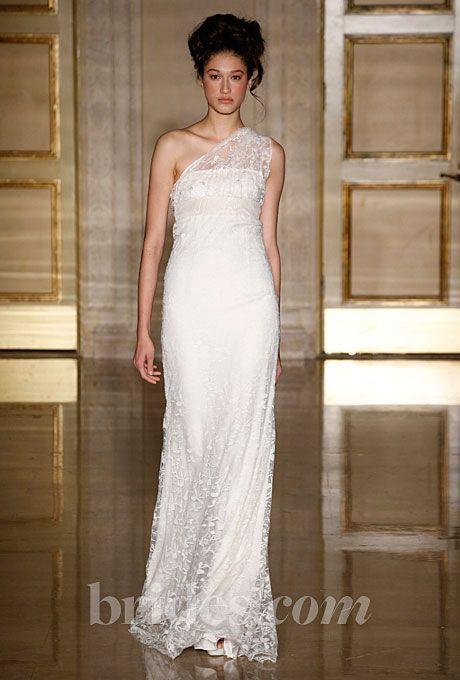 Brides.com: Fall 2013 Wedding Dress Trends. Trend: Sweet Romantic Wedding Dresses. Gown by Douglas Hannant  See more Douglas Hannant wedding dresses in our gallery.