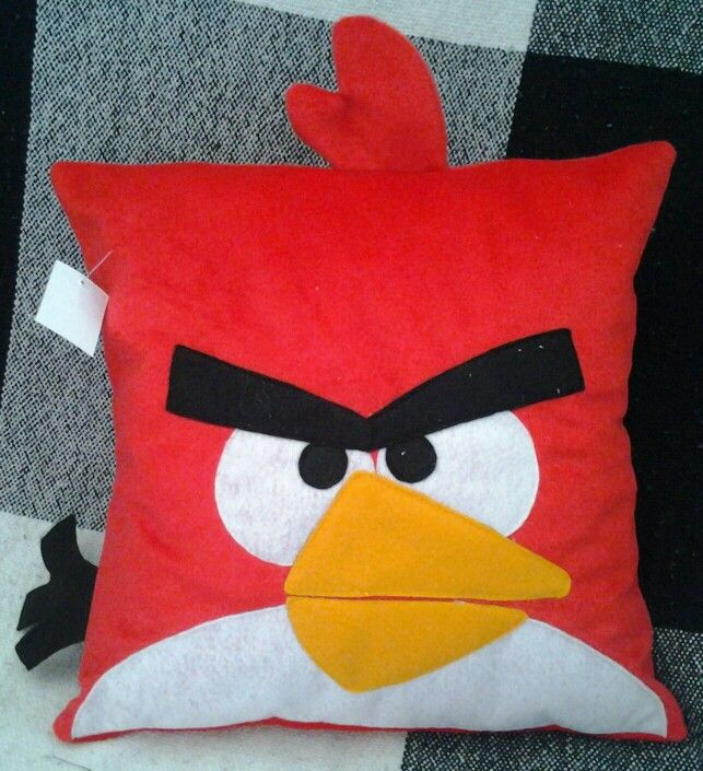 Pillow angry bird red