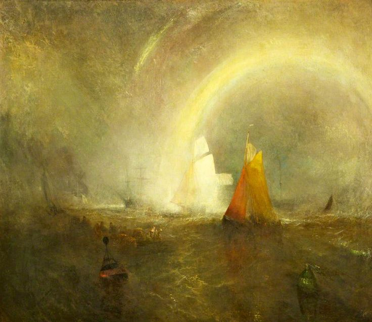 The Wreck Buoy PAINTINGS - Joseph Mallard Turner (1775-1851) oil on canvas circa 1849 Sudley House, Liverpool