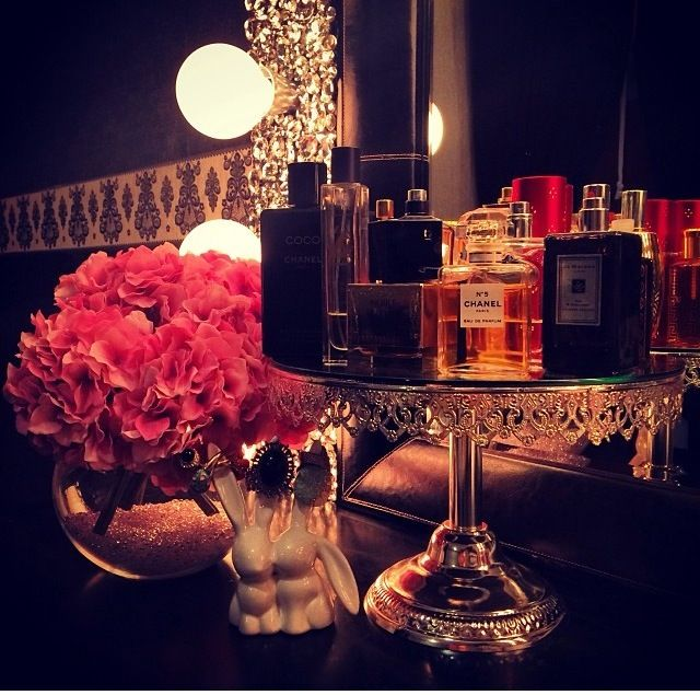 Beauty Room Designs On Our BLOG for #makeup and #perfume organization and #beautyroom décor.