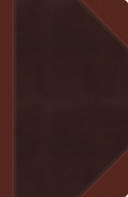 NKJV Giant Print Center-Column Reference Bible, Imitation Leather, Expresso/Auburn Indexed