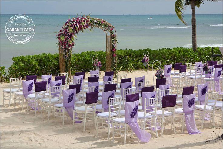 Arco de #Boda estilo #Boho  Montaje en Hotel #BlueBaygranesmeralda #LoveMemories #Weddings  #CreandoMomentosMemorables.