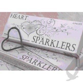 heart sparklers, heart shaped wedding sparklers