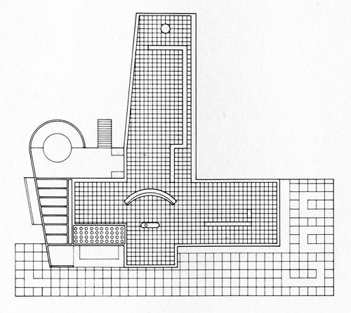 Berthold Lubetkin, House at Whipsnade, Roof Plan, 1936