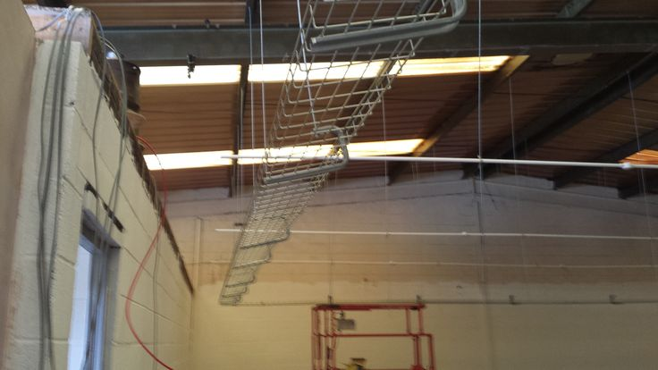 Cage For Cabling Above This Will Be A Full Suspended Ceiling With Fire And Intruder Alarms As Well As Lights And Smok Intruder Alarm Fire