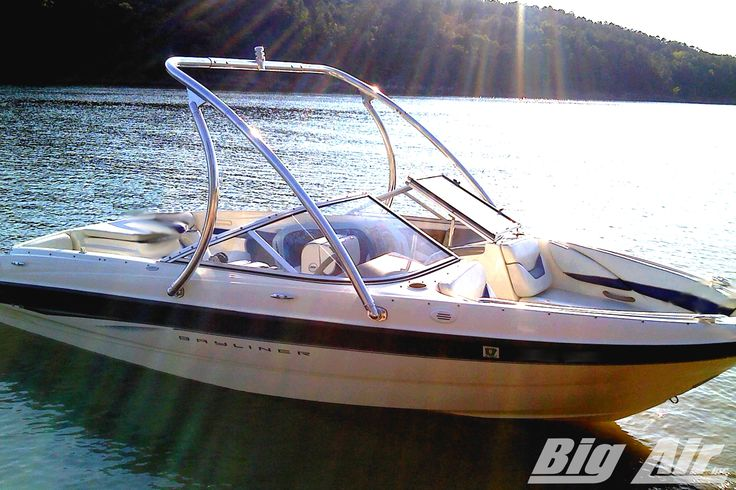 Bayliner boat with Big Air Ice wakeboard tower
