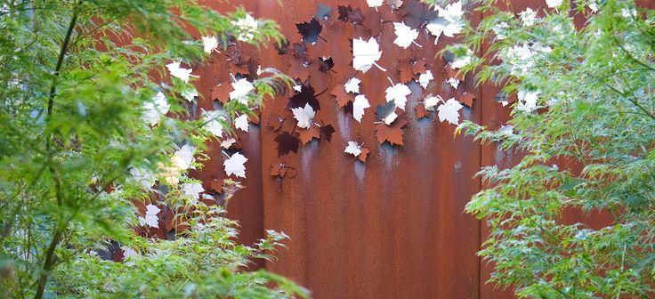 Gardens of melbourne metal work landscapes and gardens for Metal garden dividers