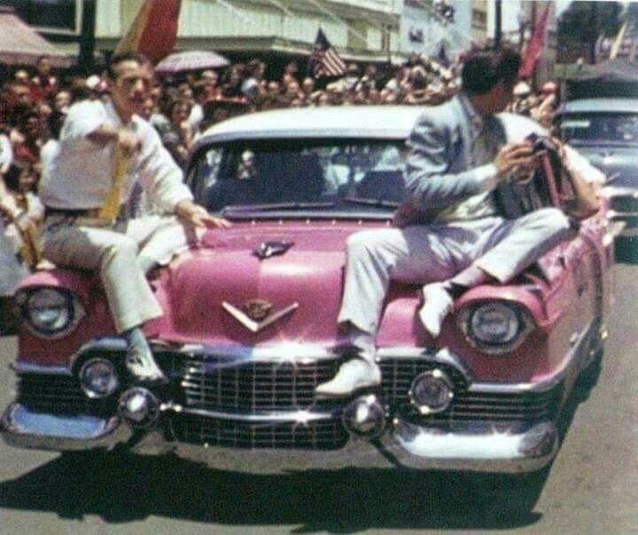 Elvis Presley, Jimmie Rodgers Festival Parade, May 1955, Meridian, MS