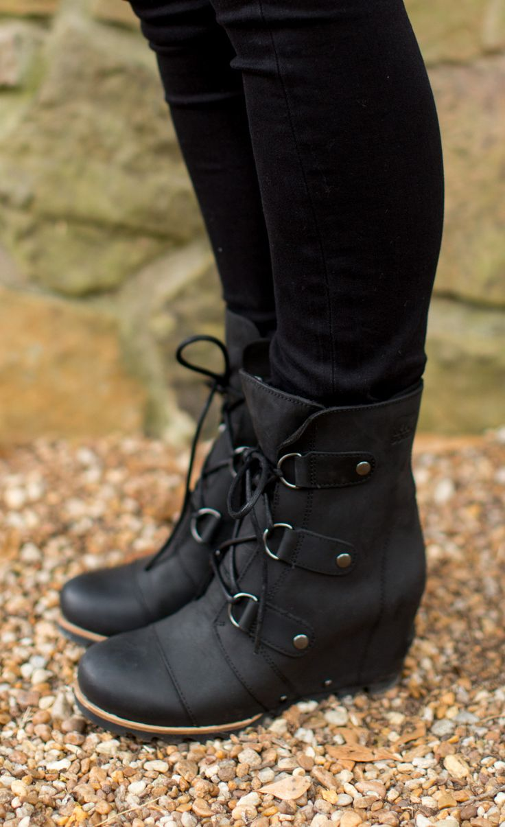 Sassy city boot with outdoor function Details: Waterproof Leather upper  Lace up closure Wedge height: