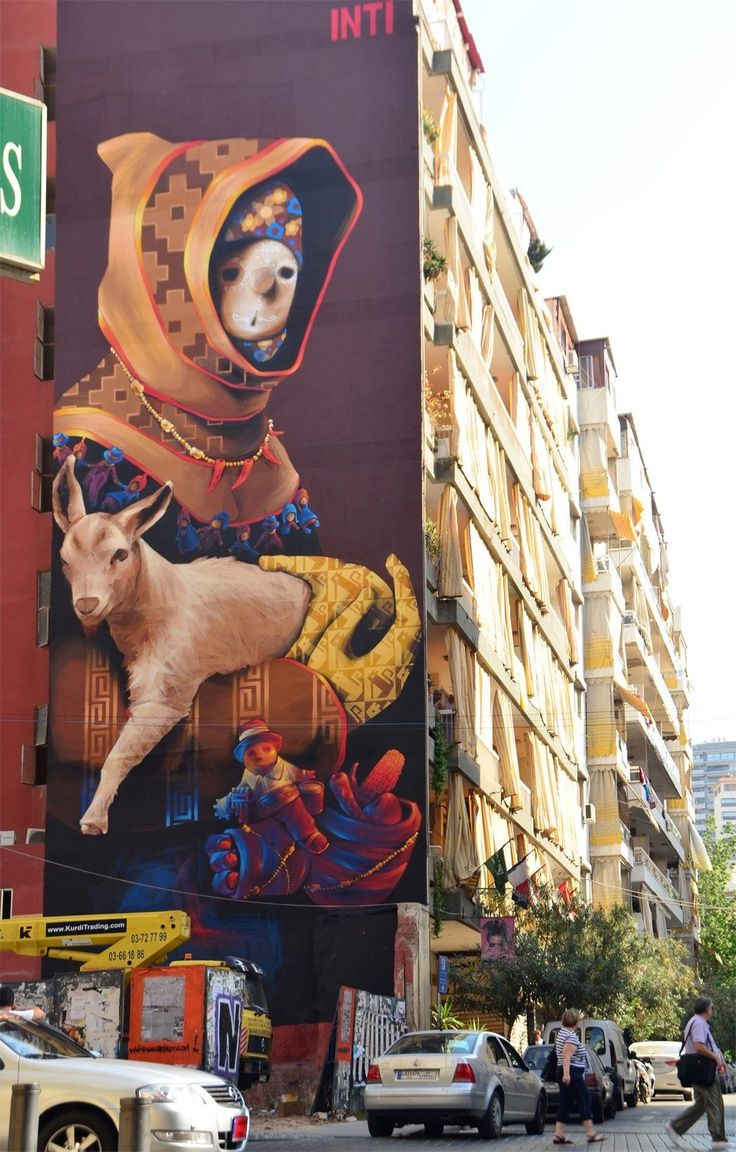 """INTI """"Pagano"""" New Mural In Beirut, Lebanon This is Art, not Mine nor yours, but It deserves to be seen...by everyone...Share it..."""