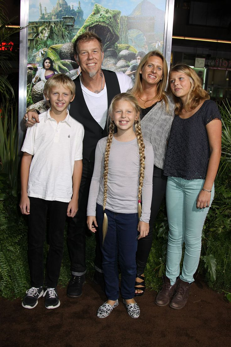 James Hetfield Daughter | James Hetfield and family at the Los Angeles Premiere of JOURNEY 2 ...