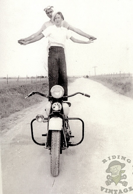 Stunt riders on their Indian .. great photo! http://alcoholicshare.org/
