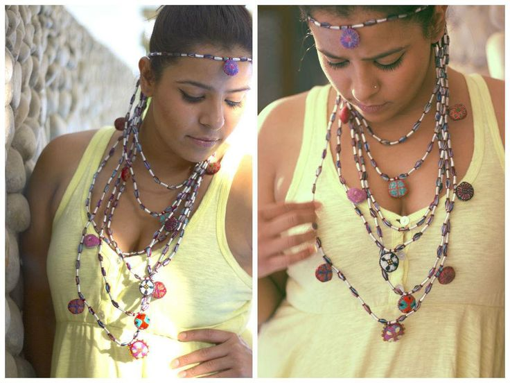 Our necklaces look great layered. This Satlara necklace from our new collection, is a great summer piece.