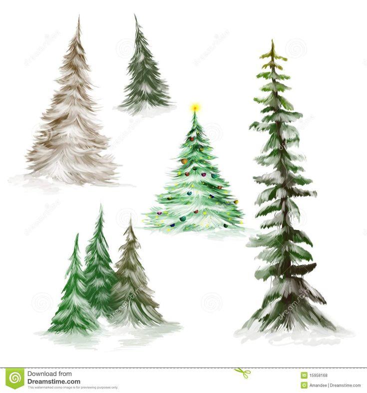 how to draw x mas tree