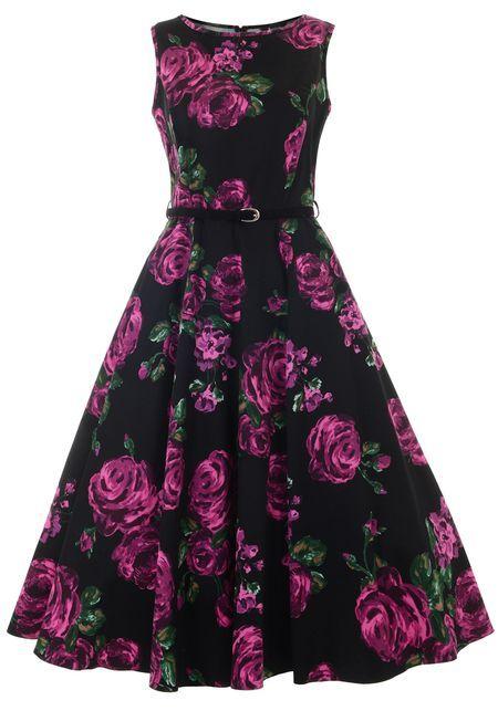 Violet & Green Rose Hepburn, Circle Dress fromLady Vintage  http://www.misswindyshop.com/fi/shop/vaatteet/mekot/violet+green+rose+hepburn