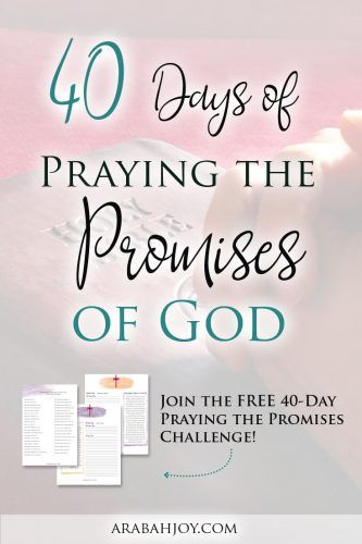 What would happen if you regularly prayed the promises of God? Well today is the day to find out! This resource ... 40 days of God's promises. FREE download