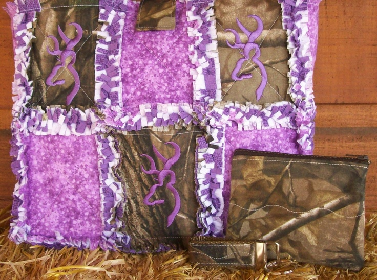 Pink Mossy Oak Camo Quilt Patterns Real Tree Purple