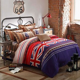 Bedroom decor ideas and designs top british union jack for Union jack bedroom ideas