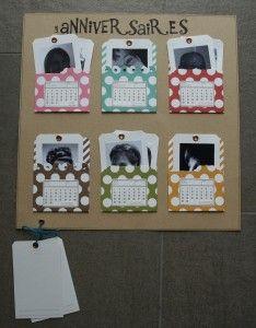 Un calendrier des anniversaires pour Scrapmania   Les Bricol' d'Isa