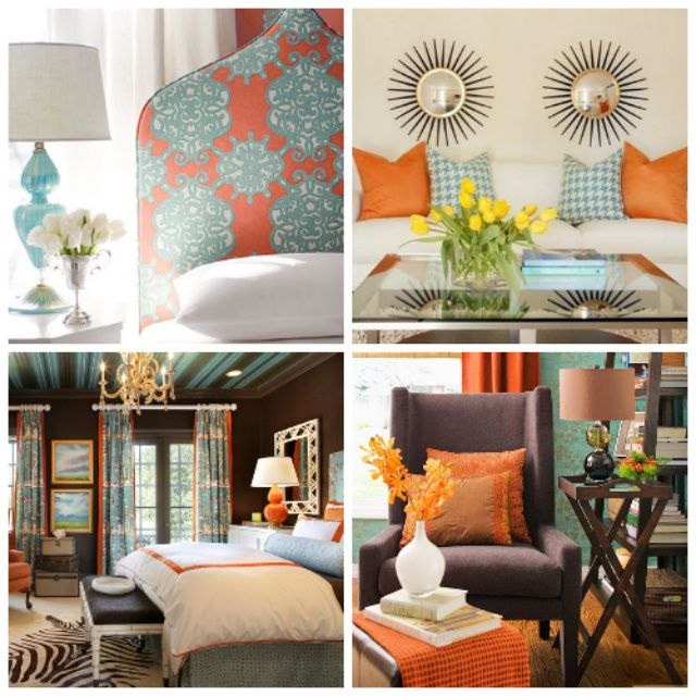 21 Colorful Living Rooms To Crave: 10 Best Brown & Turquoise Decor Images On Pinterest