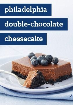 Philadelphia Double-Chocolate Cheesecake – Double duty is what chocolate does in this rich cheesecake.