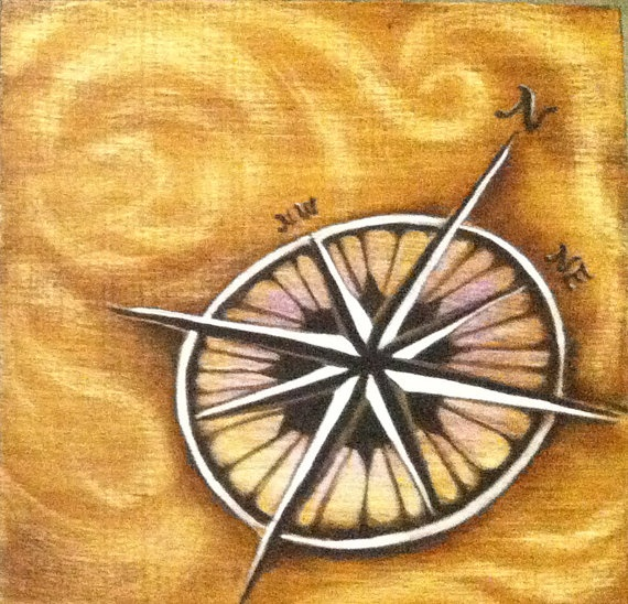 Compass Rose by JoleneMackieArt on Etsy, $50.00