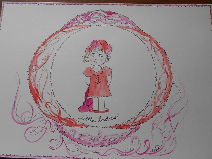 """A laminated place mat for a special """"little lady""""."""
