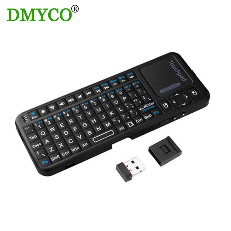 Hot!!! LED Backlight 2.4GHz mini Wireless Keyboard QWERTY keyboard air mouse Touchpad Keyboard for Google/Android TV Mimi PC #Affiliate