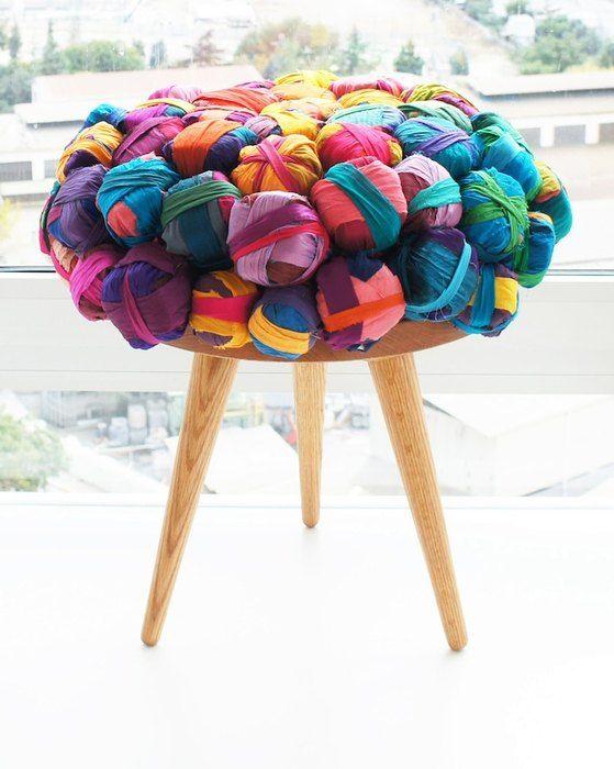 Мебель из лоскутков шёлка от турецкого дизайнера Meb Rure