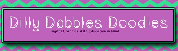 Dilly Dabbles Doodles   Digital Graphics with Education in Mind -- $