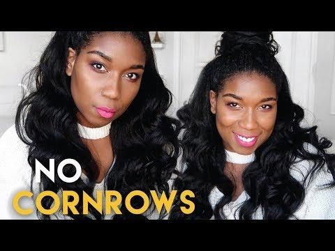 Glamorous Protective Hairstyle W/ Clip-In Extensions - NO CORNROWS   Natural Hair