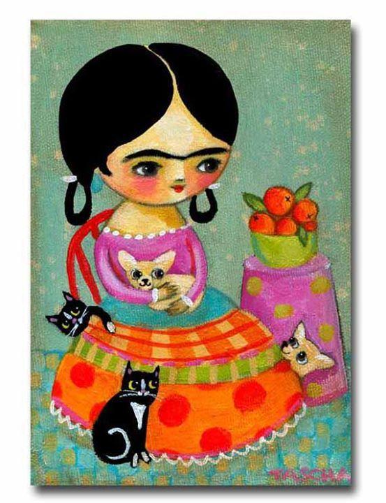 'Frida-Inspired' Folk Art. | by Tascha Parkinson