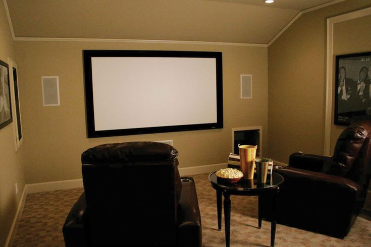 Theater Room With Enormous Flatscreen TV - plan 067S-0001 | houseplansandmore.com
