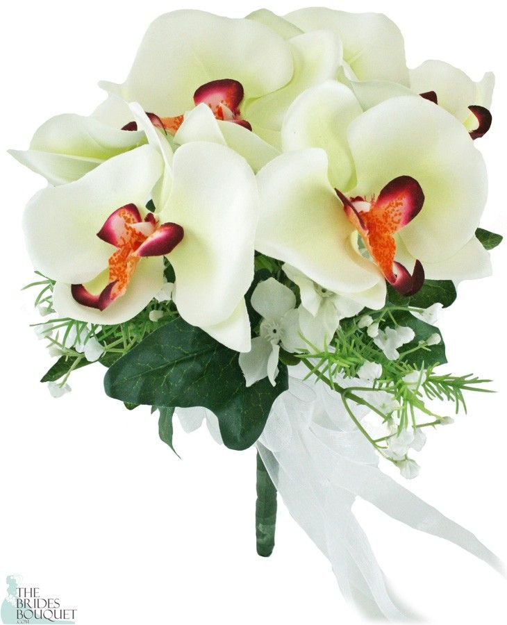 TheBridesBouquet.com - Tropical Silk Orchid Toss Bouquet White/Fuchsia - Bridal Wedding Bouquet, $19.99 (http://www.thebridesbouquet.com/tropical-silk-orchid-toss-bouquet-white-fuchsia-bridal-wedding-bouquet/)