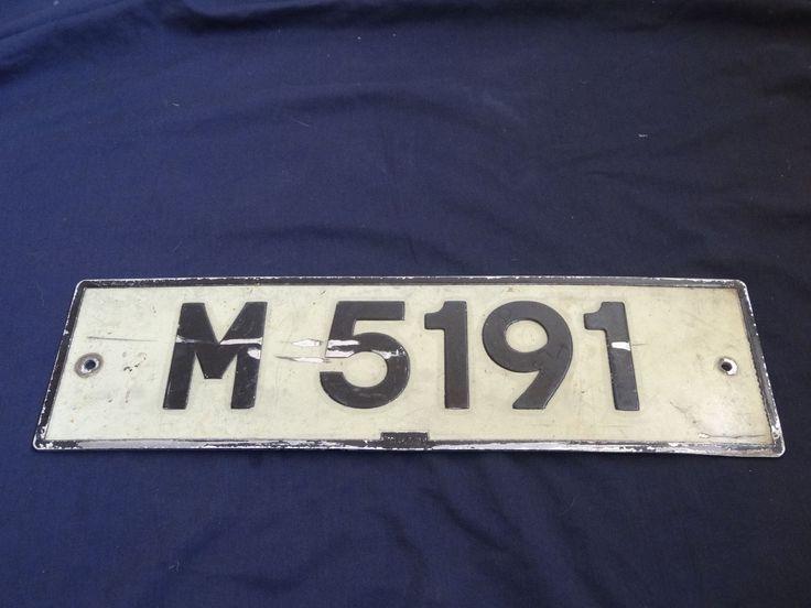 Rare Barbados #m-5191 St Michael Parish Vintage Caribbean Hills License Plate*