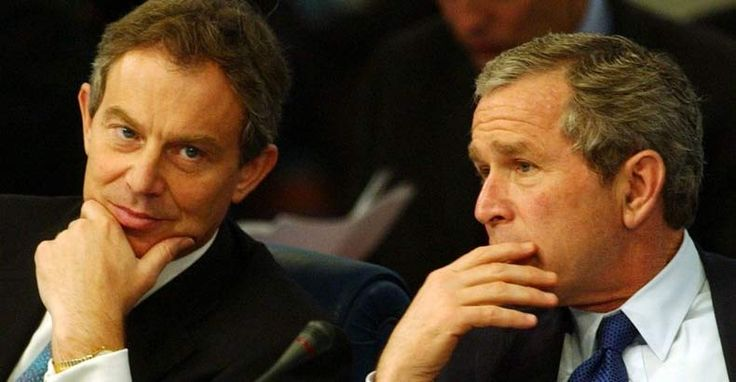Shocking Emails Expose George Bush and Tony Blair Plotting Iraq War a YEAR Before the Invasion By Johnny Liberty on October 18, 2015   Read more at http://thefreethoughtproject.com/breaking-declassified-email-reveals-british-government-support-iraq-war-year-invasion/#PMY5QOClFAOL0eHo.99