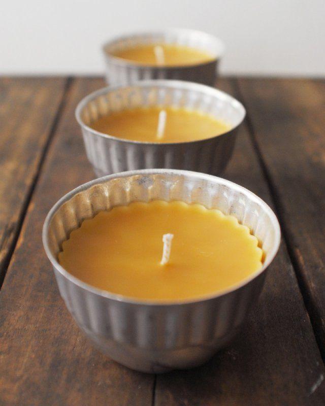 Faire une bougie à la cire d'abeille / diy bougie