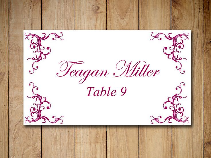 The 25+ best Place card template ideas on Pinterest Free place - wedding card template