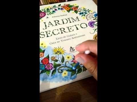 Fazendo sombreado no livro Jardim Secreto