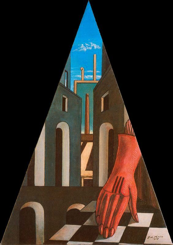 The Red Tower - Giorgio de Chirico - WikiPaintings.org