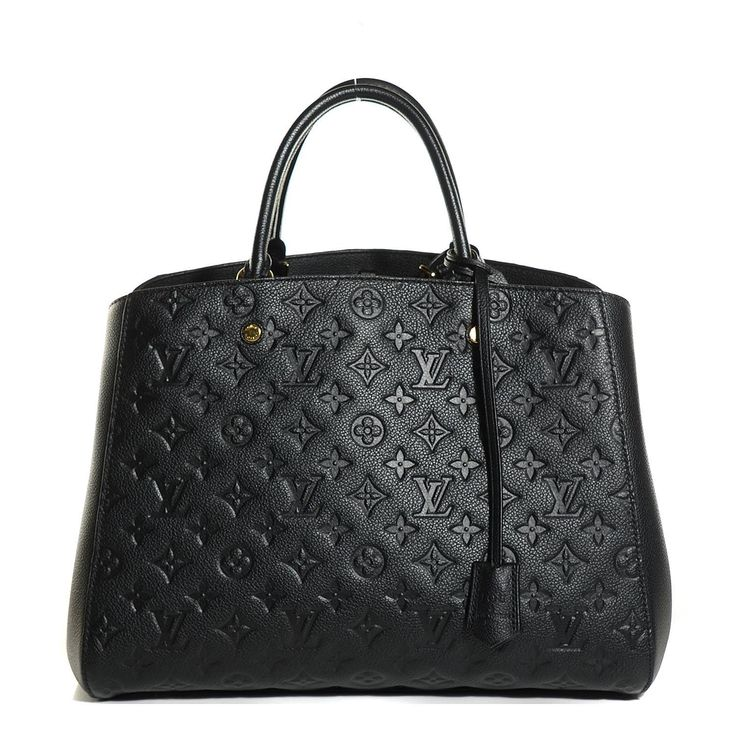 LOUIS VUITTON Empreinte Montaigne GM Noir Black