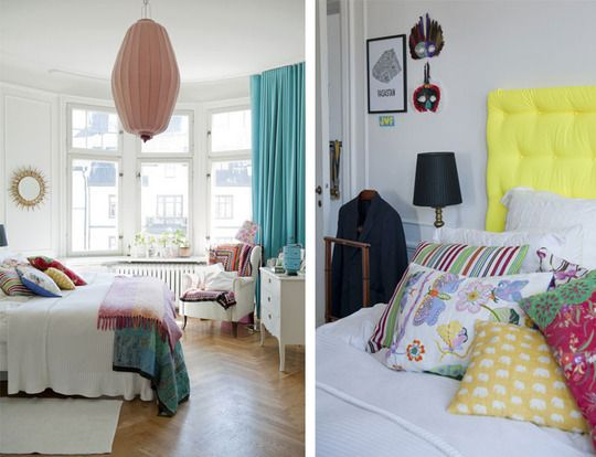 Creating a colorful room without paint. :): Dreams Bedrooms, Kids Bedrooms, Beds Rooms, Pop Of Colors, Apartment Therapy, White Bedrooms, Scandinavian Bedrooms, Design, Bright Colors