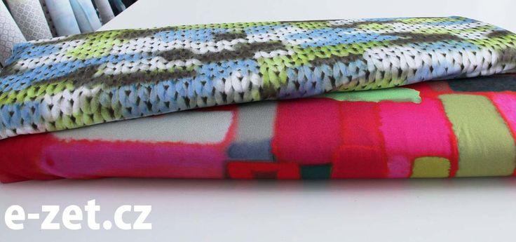 úplet se zářivými vzory | Úplety - Jerseystoffe | e-zet.cz - obchod s metráží