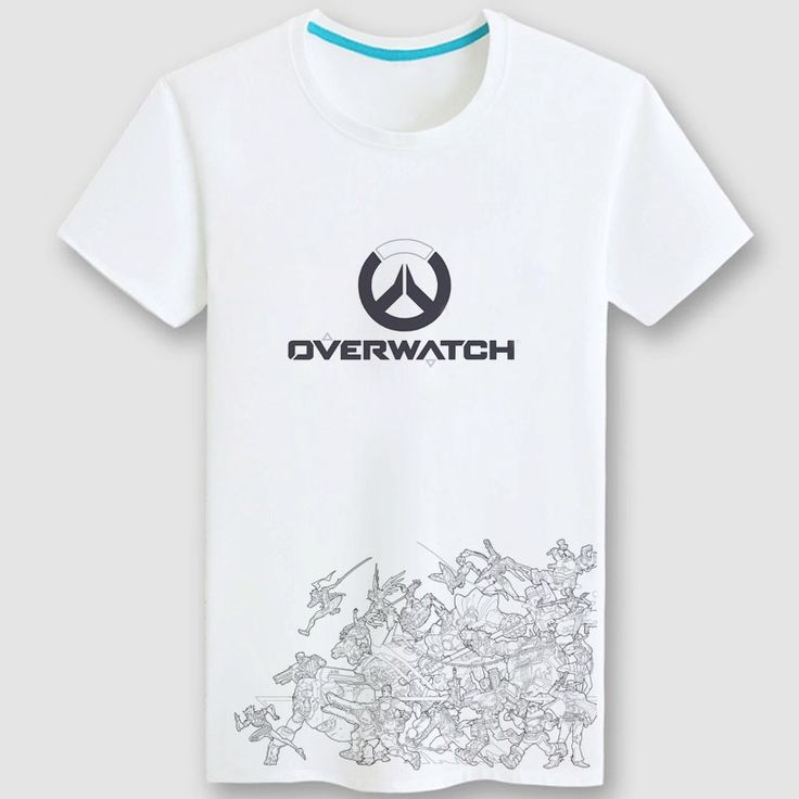 Overwatch Game Logo T Shirts For Couple white Tee