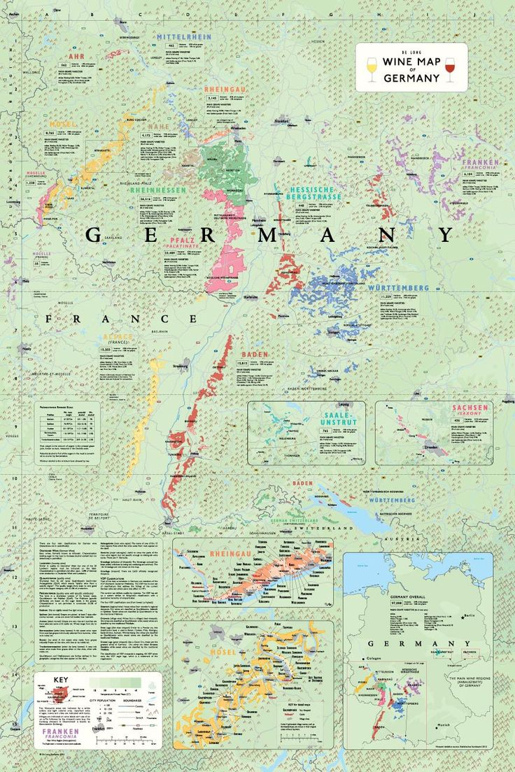 Best Wine Maps Infographics Images On Pinterest French - Germany vineyards map