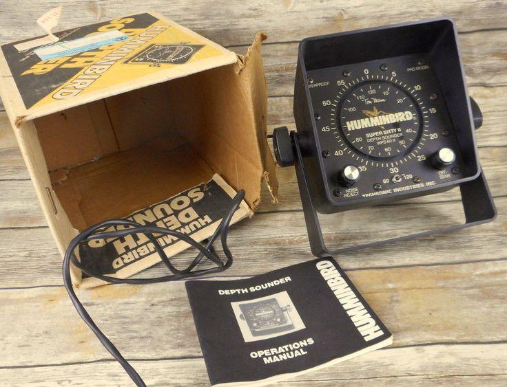 Humminbird Depth Sounder Techsonic Super Sixty II WPS 60 Pro Model Fish Finder  #Humminbird